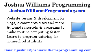 Joshua Williams Programming
